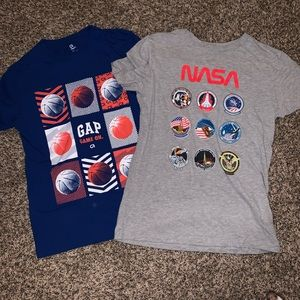 Worn Once! Boys GAP graphic t-shirts.